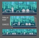 Parallax ready industrial game environment. stock illustration