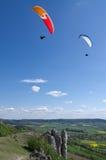 paralle планера летания стоковые фото