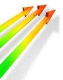 Parallel arrows Royalty Free Stock Images