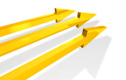 Parallel arrows Stock Photography