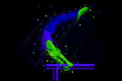 Parallel Bar Gymnast Royalty Free Stock Image