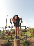 Parallel bars girl Stock Images