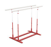Parallel bars for gymnastics isolated on white background. 3d  Stock Photography