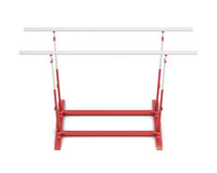 Parallel bars for gymnastics  on white background. 3d re Stock Photos