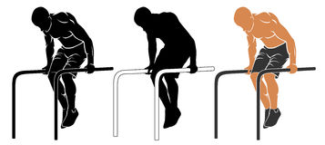 Parallel bars Pull up Royalty Free Stock Photos