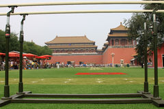 Parallel bars in Tiananmen national flag guard training site, in Stock Photography