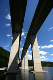 Parallel bridges. Couple of parallel bridges in mountains royalty free stock photography