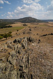 Parallel cliffs Macin Dobrogea Royalty Free Stock Images