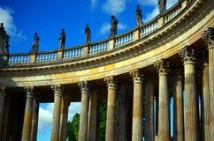 Parallel coloumns as part of castle sancoussi in Potsdam Stock Photos