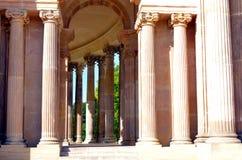 Parallel coloumns as part of castle sancoussi in Potsdam Stock Images
