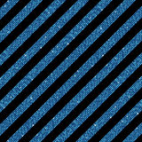 Parallel Diagonal lines. Blue sequins. Stars. The parallel diagonal lines on the black background. Background made of blue sequins. Mosaic, sequins, glitter Stock Photo