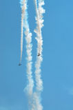 Parallel Diving Stunt Planes Royalty Free Stock Photo