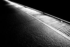 Parallel Drains. In black and white Stock Photo