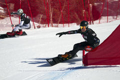 Parallel giant slalom Royalty Free Stock Images