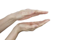 Parallel Healing Hands on white background Royalty Free Stock Photo