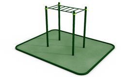 Parallel horizontal bars at sports ground for workout. 3D rendering. Royalty Free Stock Images