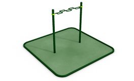 Parallel horizontal bars at sports ground for workout. 3D rendering. Royalty Free Stock Photos
