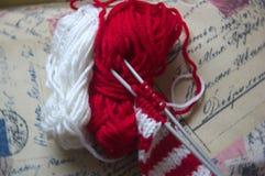 Parallel knitting needles Stock Photos