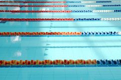 Parallel lanes in a pool Stock Images