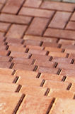 Parallel lines. Parallel brick pattern with a shallow focus stock photo