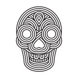 Parallel lines skull symbol Royalty Free Stock Image