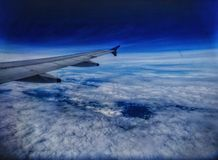 Parallel met wolken royalty-vrije stock foto's