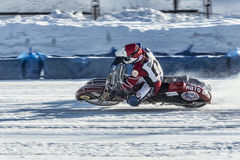 A parallel movement. Russia. The Republic Of Bashkortostan. The Ufa. Racing on ice. The Championship Of Russia. A final . February 1, 2014 Royalty Free Stock Photography