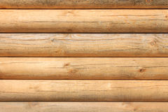 Parallel new wooden logs Royalty Free Stock Photo