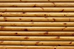 Parallel polished wooden logs Royalty Free Stock Image