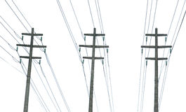 Parallel power transmission lines royalty free stock images