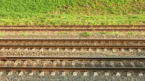 Parallel rail lines Stock Photography