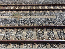 Parallel rail ways Stock Images