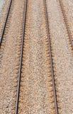 Parallel rails Stock Photo