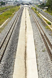 Parallel Railway and Platform Royalty Free Stock Photography