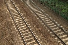 Parallel Railway Tracks Royalty Free Stock Photo