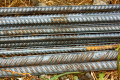 Parallel reinforcement rods Royalty Free Stock Photos