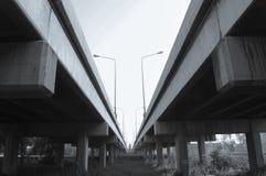 The parallel road bridge Royalty Free Stock Photo