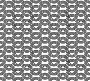 Parallel rounded weave lines seamless pattern. Stock Photos