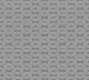 Parallel rounded weave lines seamless pattern. Royalty Free Stock Images