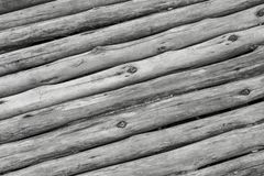 Parallel slanted gray logs thin old boards twig wooden surface toned surface ridge base stock images