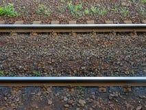 Parallel spoorwegspoor royalty-vrije stock afbeelding