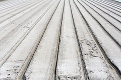 Parallel tracks in sand Stock Photography