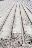 Parallel tracks in sand Stock Photos