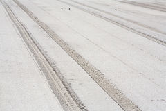 Parallel tracks in sand Stock Images