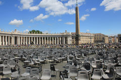 Parallel worlds Vatican St. Peters Square. Royalty Free Stock Images