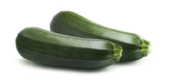 Parallel zucchini isolated on white background royalty free stock photography