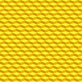 Parallelepiped pattern. Seamless pattern of the abstract yellow parallelepipeds Stock Images