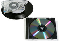 parallell digital musik vs Arkivbilder