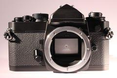 Parallell kamerakropp utan linsen, främre sikt royaltyfri bild
