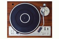 Parallell Retro tappning för stereo- skivtallrikvinylskivspelare Arkivfoto